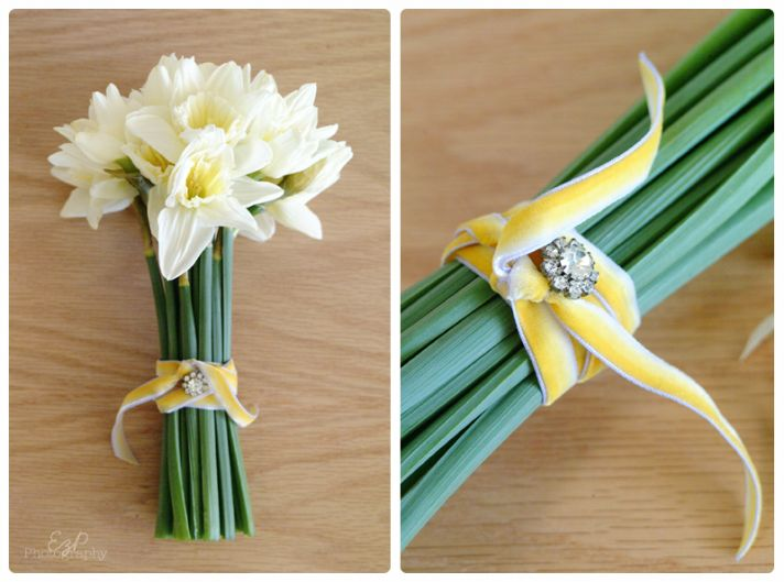 DIY Bridal Bouquet of Daffodil
