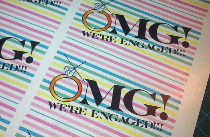 Engagement Announcement Stickers