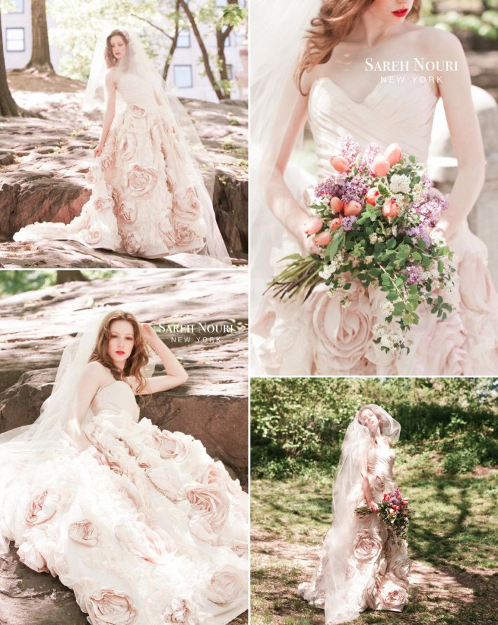 Light Pink Embellished Wedding Dress 2