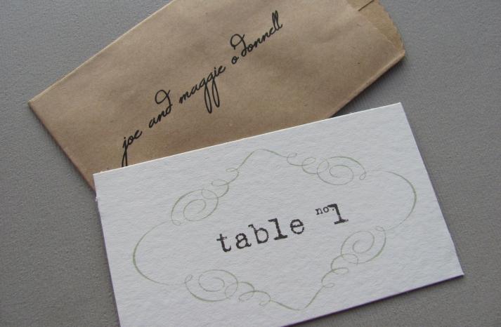 Elegant Escort Cards DIY Wedding Kit