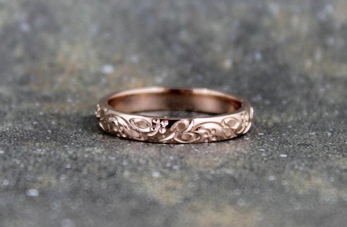Rose Gold Wedding Bands Engagement Season Ideas 1