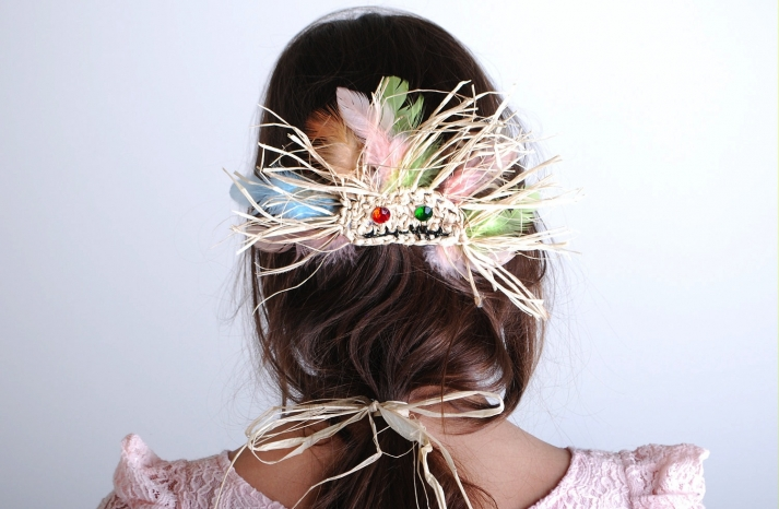 Tribal Inspired Feather Wedding Hair Accessory