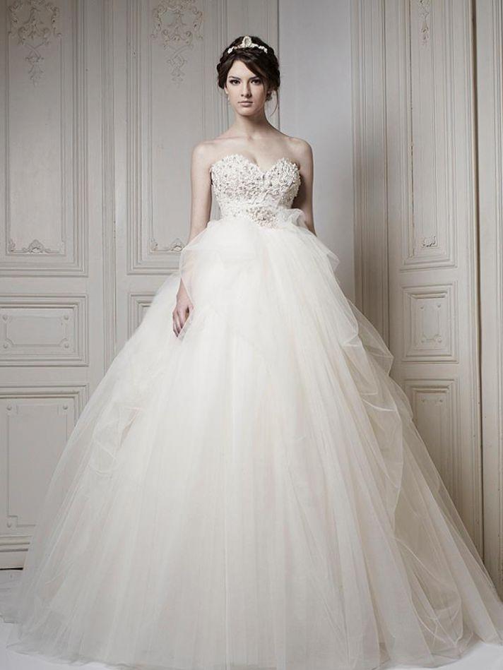 اشكال فساتين الزفاف الطويلة شيك جدا وفخمة