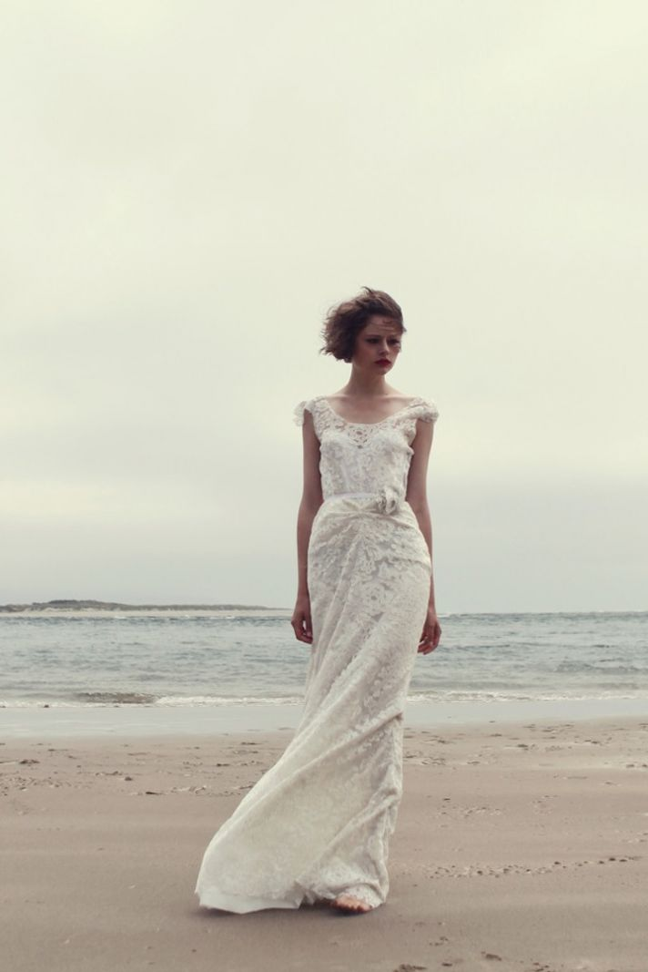 Lace wedding dress with open back by Sarah Seven