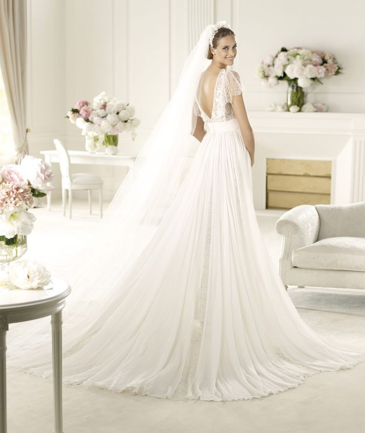 Best of backless wedding gowns 25 dresses to adore onewed for Elie saab wedding dress 2013