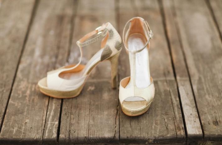 champagne sparkle snakeskin wedding heels