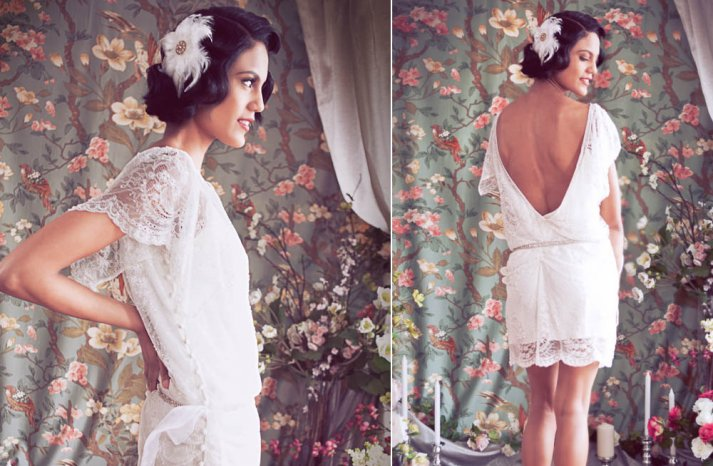 Lace LWD for wedding reception with open back
