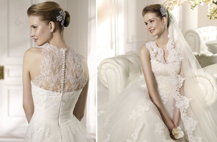 Illusion Lace Wedding Dress Details 2013 Bridal San Patrick