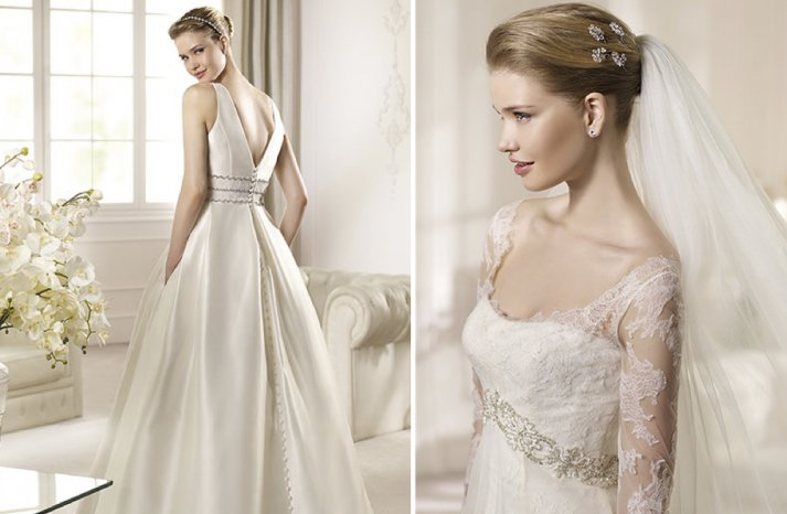 Illusion Lace Wedding Dress Details 2013 Bridal San Patrick 2