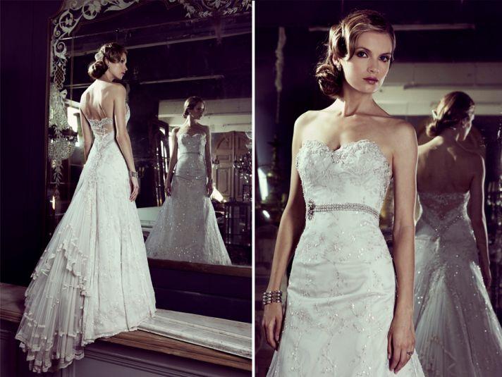 Elizabeth Stocktenstrom Wedding Dress 2013 Bridal strapless fit and flare