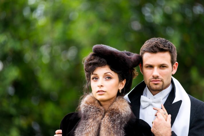 Anna Karenina wedding inspiration bride and groom