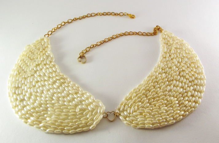Pearl Gold statement wedding necklace