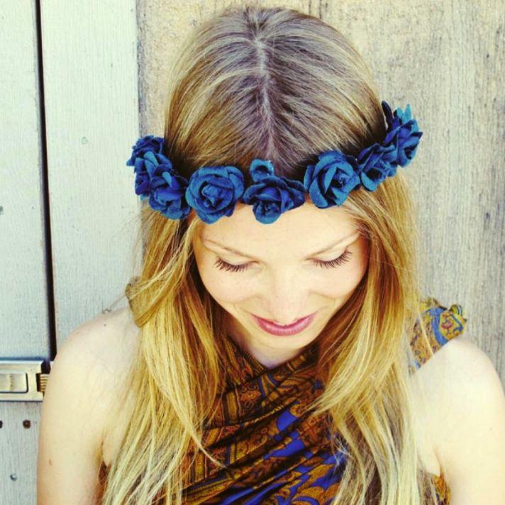 romantic floral wedding crowns cult gaia ever crown royal blue velvet