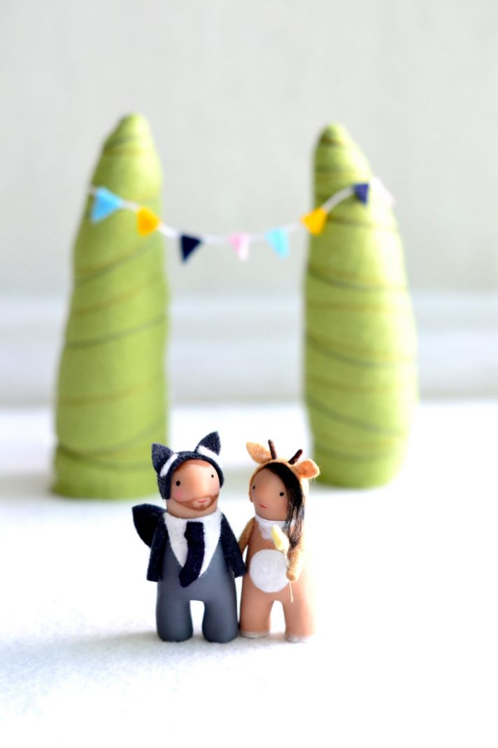 Cute Custom Wedding Cake Toppers by RoyalMint 3
