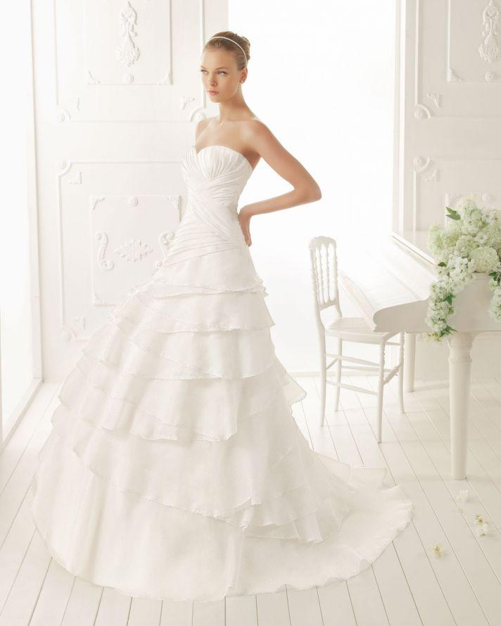 Aire Barcelona Wedding Dress 2013 Vintage Bridal Collection Verne
