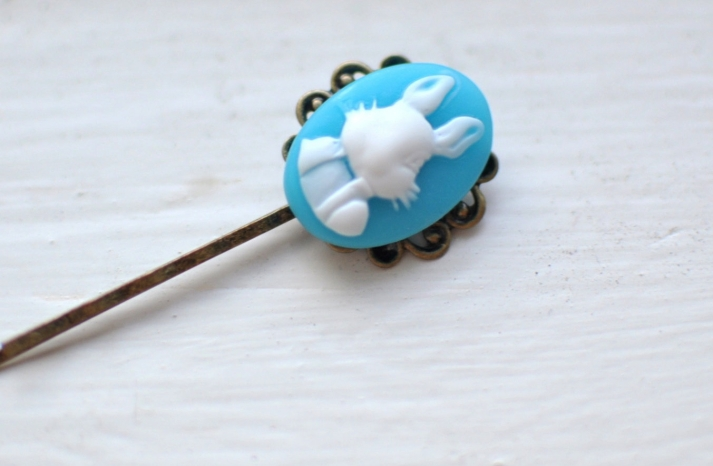 Something blue hair pin for easter brides
