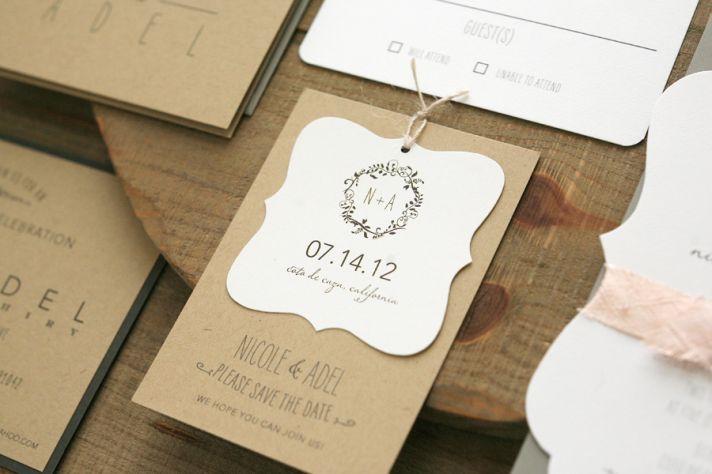 Rustic elegant wedding favor tags