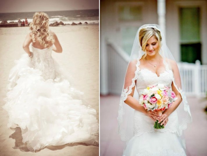 Pretty wedding hair by Jillian Rae