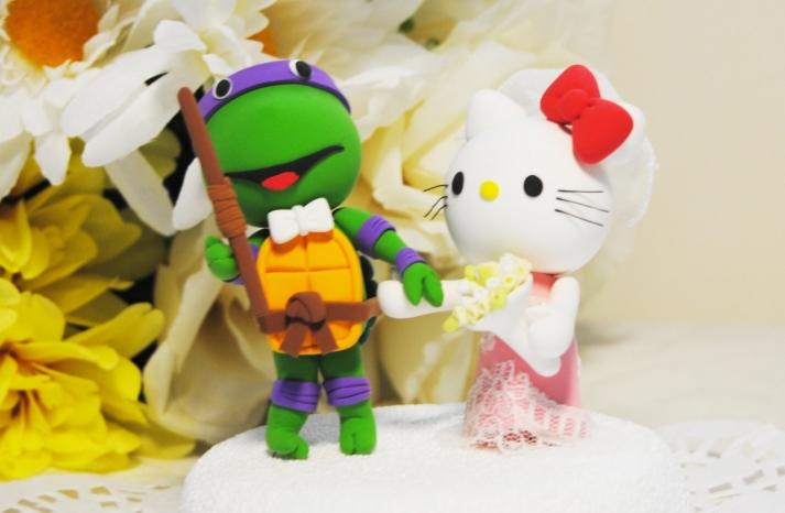 Hello Kitty Ninja Turtle Cake Topper