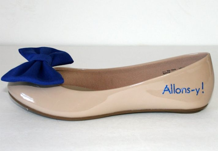 Ballet flat wedding shoes for geeky brides