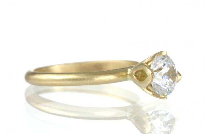 Tulip inspired engagement ring