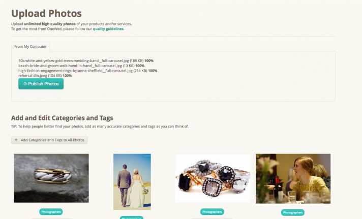 blog how to upload photos vendors upload page
