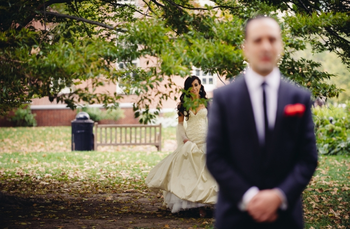 Philadelphia Wedding Photography First Look Approach 2