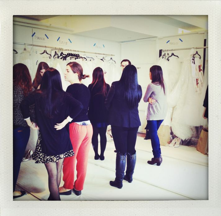 Oscar de la Renta Bridal Spring 2014 Wedding Dress Collection Backstage 4