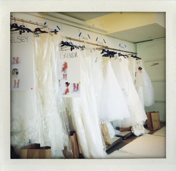 Oscar de la Renta Bridal Spring 2014 Wedding Dress Collection Backstage 4