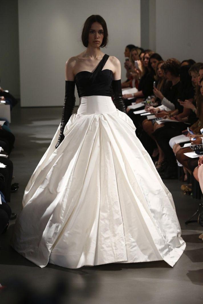 Black and white vera wang wedding dress