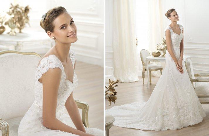 Pronovias wedding dress pre 2014 bridal costura Lencie