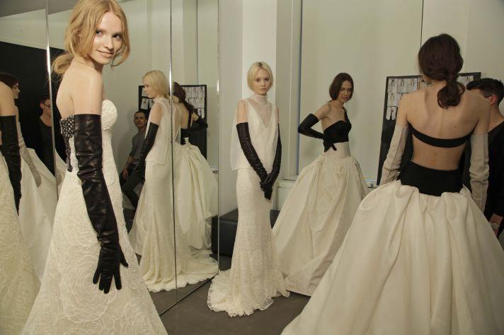 Vera Wang Spring 2014 Wedding Dresses Backstage