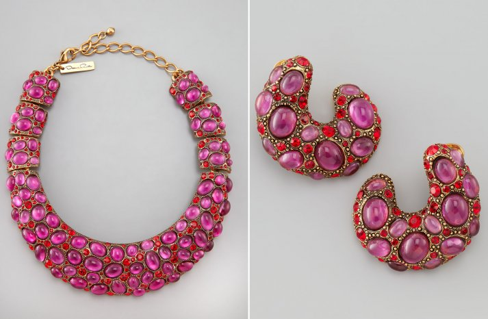 statement wedding jewelry for 2013 brides Oscar de la Renta earrings necklace