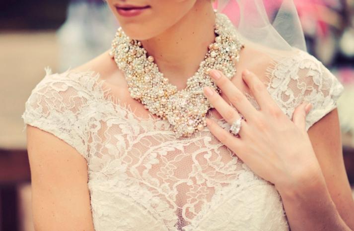 statement swarovski wedding necklace