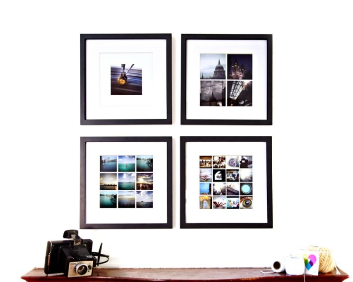 Framed Instagrams for wedding gifts