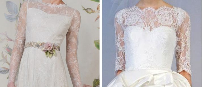 2 lace wedding dress trends spring 2014 fall 2013 claire pettibone marchesa sleeves