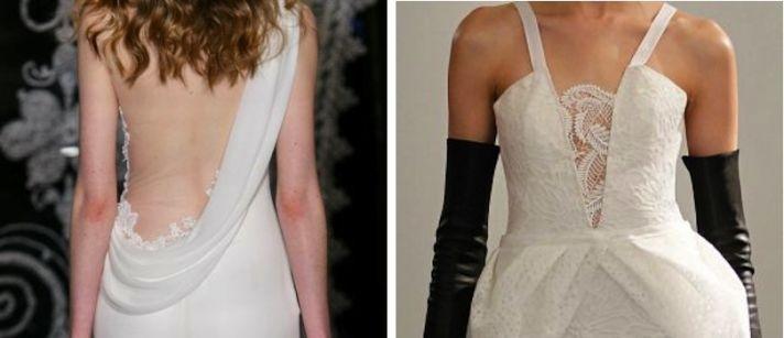 5 lace wedding dress trends spring 2014 fall 2013 peekaboo