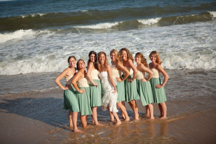 Real Wedding Long Island Throo Williams Photography by Verdi Bridesmaids Bride Beach