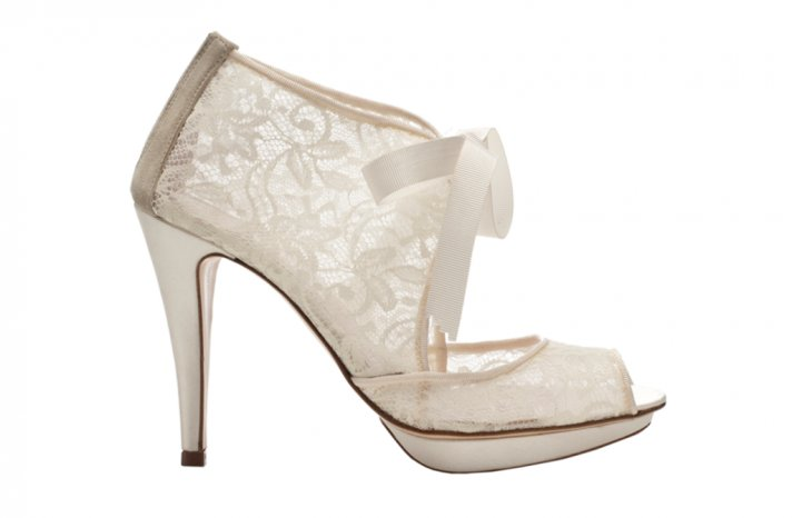Wedding shoes by Harriet Wilde bridal heels Chantilly 2