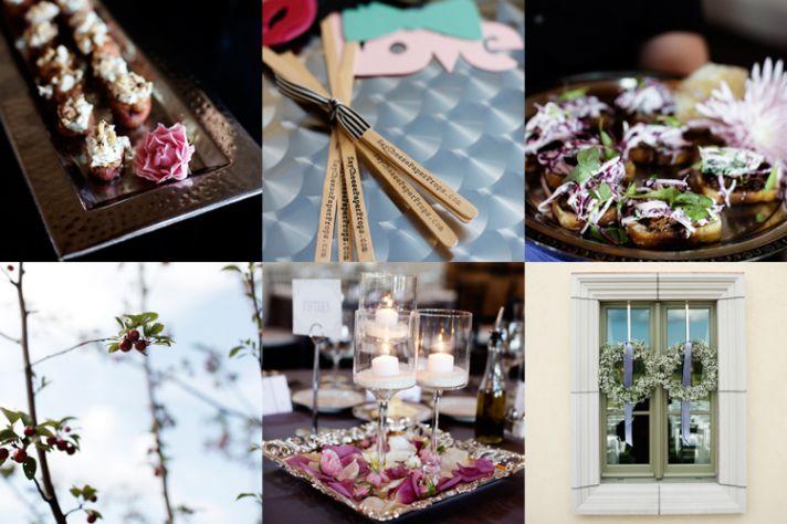 Winery wedding in Wisconsin romantic florals