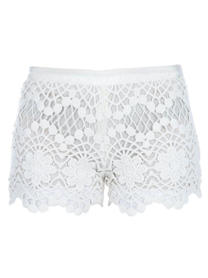 Lace short shorts for summertime brides