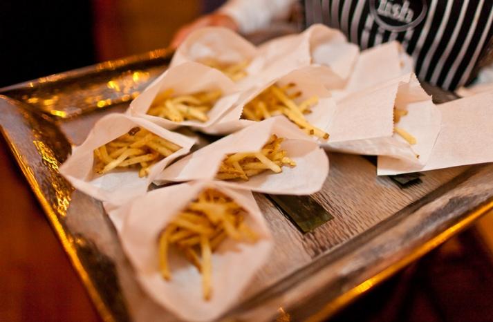 Fancy fries late night wedding reception treat