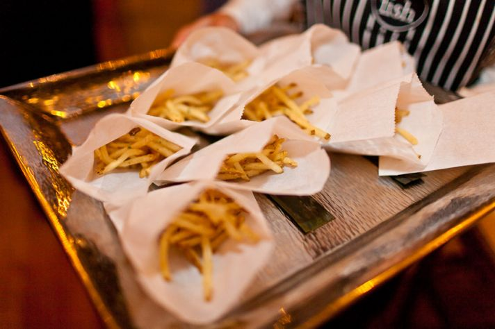 Fancy fries late night wedding reception treat