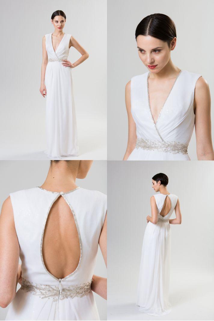 necklines we love junko yoshioka summer spring 2014 wedding dress sorbet