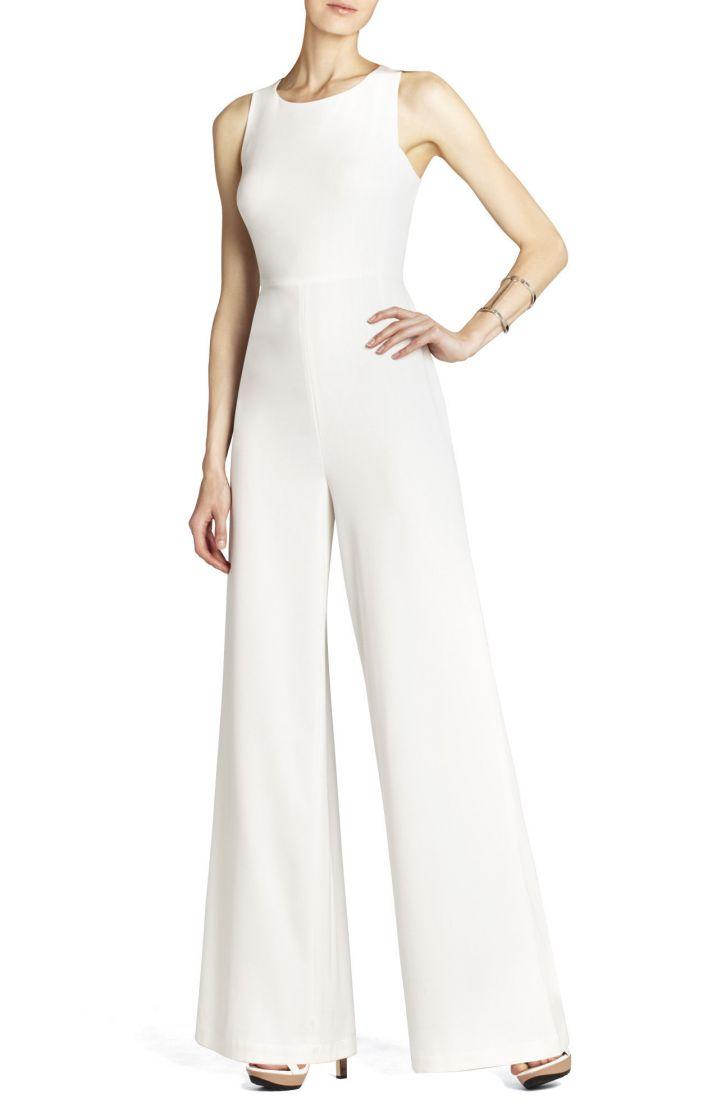 BCBG wedding dress Max Azria Bridal retro pants jumper