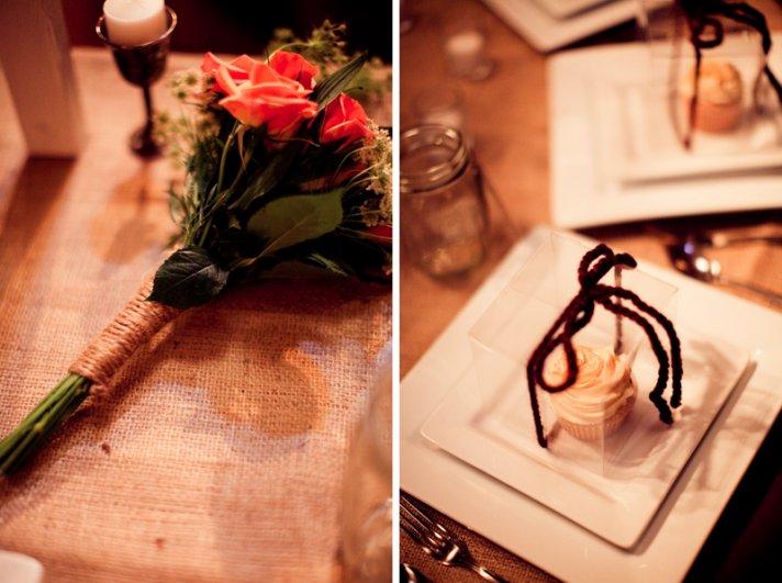 rustic barn wedding IL photographers reception details brides bouquet