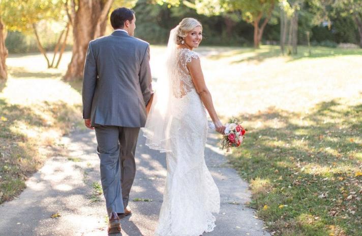 lace statement back wedding dress summer vintage bride