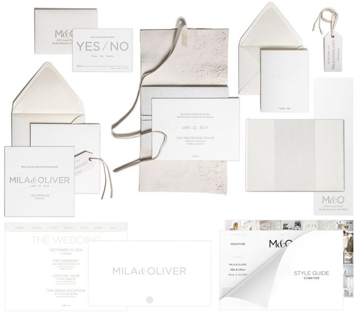Bliss and Bone Wedding Collection customized invitations Signature