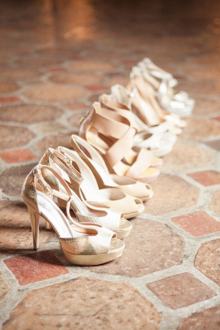 Jimmy Choo Wedding Shoes all in a row