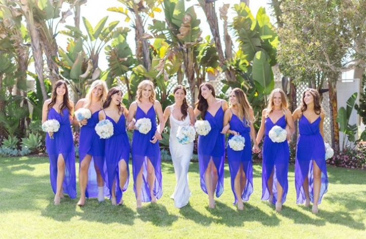 bright cobalt blue bridesmaid dresses